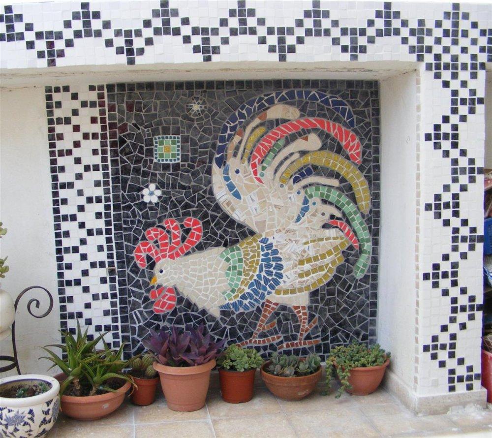 Мозаика из битой плитки фото своими руками