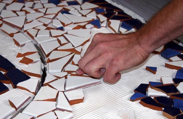 Изготовление мозаичной плитки своими руками 62