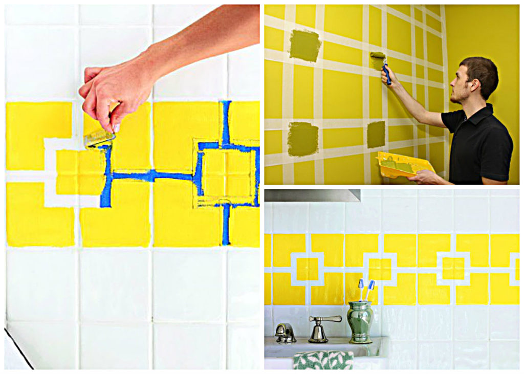 How to paint ceramic tile in kitchen