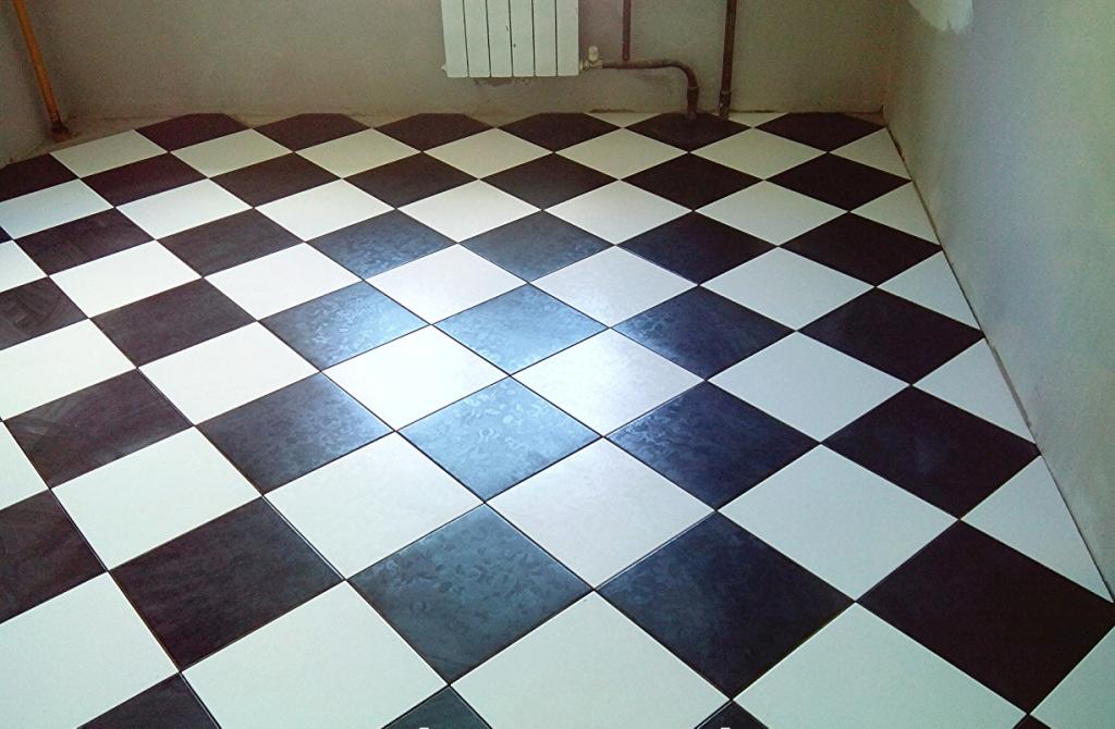 Укладка напольной плитки по диагонали