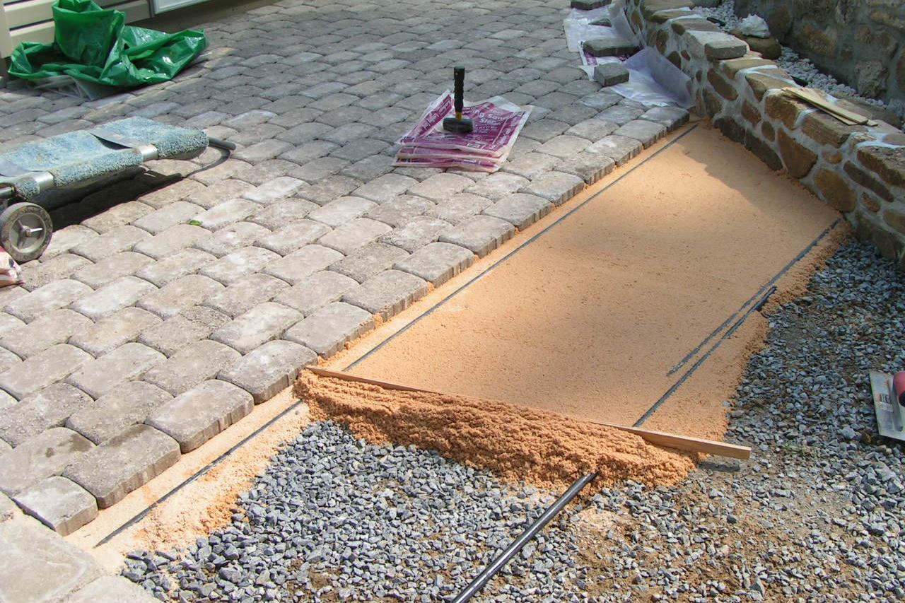 Простой способ укладки тротуарной плитки