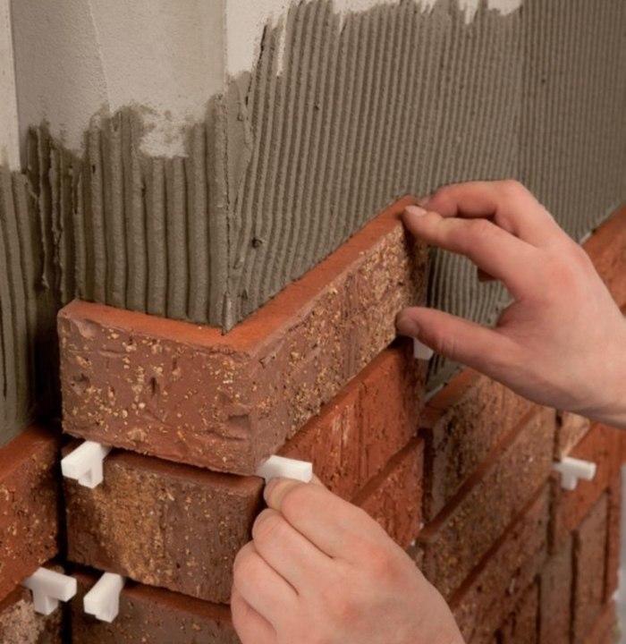 Облицовочной плитки кирпича своими руками