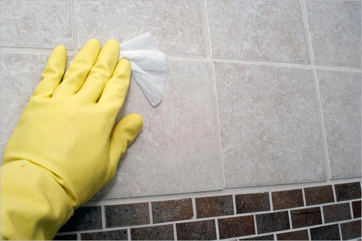 Как убрать затирку с плитки в домашних условиях