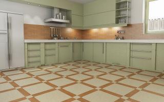 Выбор кухонной напольной плитки