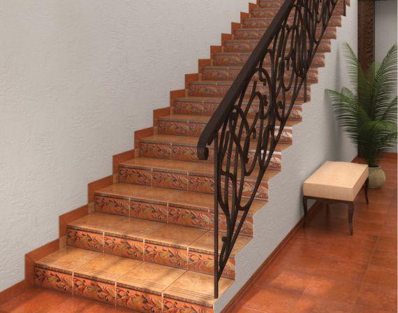 Отделка лестницы плиткой
