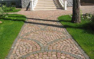 Каменная тротуарная брусчатка