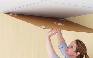 Как клеить потолочную плитку на побелку