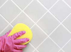 Чем можно отмыть плитку в ванной от налета?