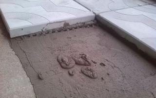 Технология укладки брусчатки на бетон