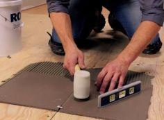 Как положить плитку на ДСП