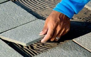 Как класть плитку на улице